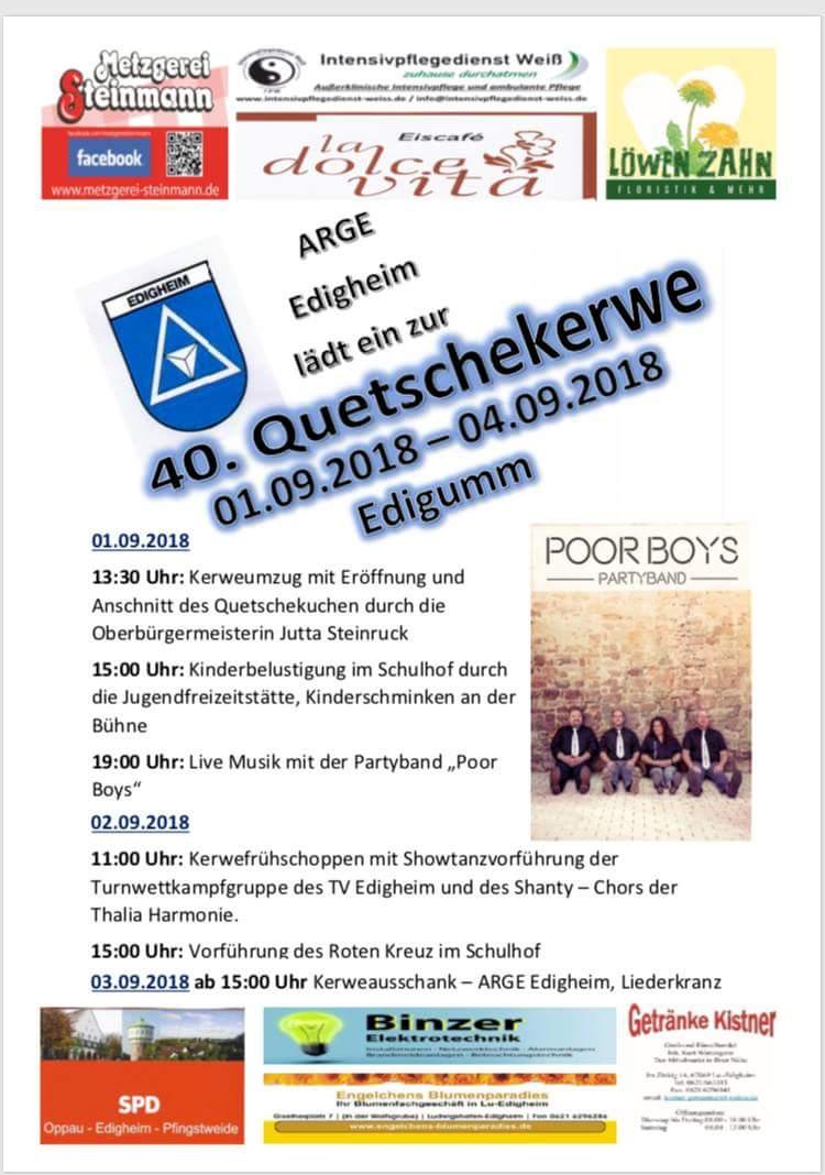 40. Edigummer Quetschekerwe | TV Edigheim - Gesamtverein