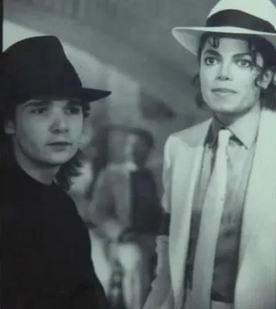 Old Photo of Feldman and Michael Jackson