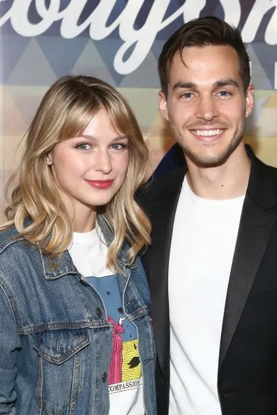 Melissa Benoist and Chris Wood Are Cute