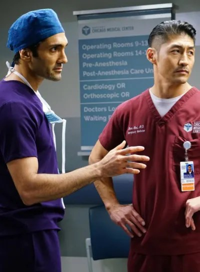Marcel Talks to Choi - Chicago Med Season 5 Episode 7