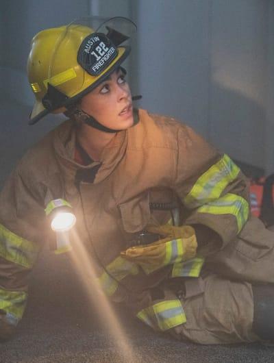 Marjan Looks Up - tall  - 9-1-1: Lone Star Season 2 Episode 14