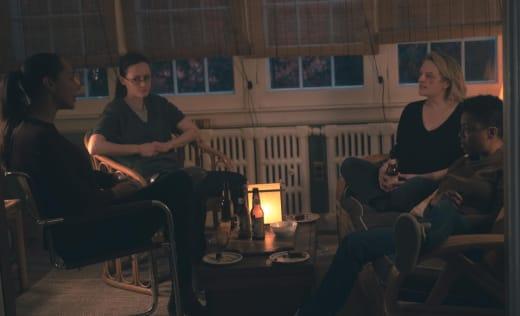 Rita, Emily, June, and Moira long - The Handmaid's Tale Season 4 Episode 7