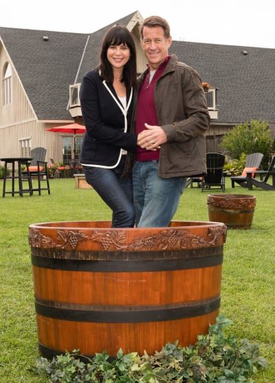 Posing While Stomping Grapes - Good Witch Season 5 Episode 3