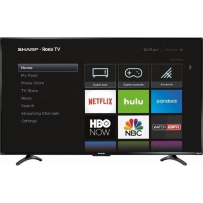 Sharp 55 inch TV with Roku - TV Sizes