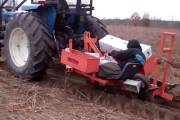 Machine planting Longleaf pine seedlings Jan 7, 2011