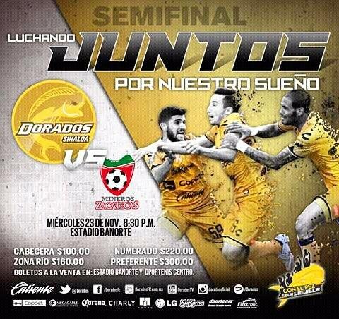 Dorados vs Mineros en Vivo Ascenso MX 2017