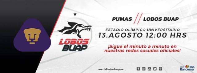 Partido Pumas vs Lobos BUAP en Vivo Liga MX 2017