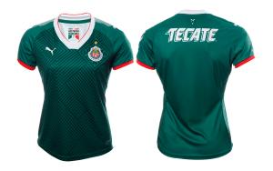 Playera Chivas 2017 Mujer Verde con tu Nombre y Número - Tercer Uniforme