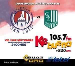 Atlético San Luis vs Zacatepec en Vivo Ascenso MX 2017
