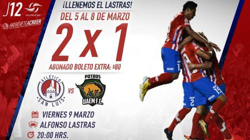 Atlético San Luis vs Potros UAEM en Vivo Ascenso MX 2018