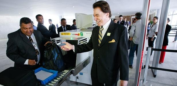 O empresário e apresentador Silvio Santos, quando esteve no Palácio do Planalto, em Brasília (22.out.2010)
