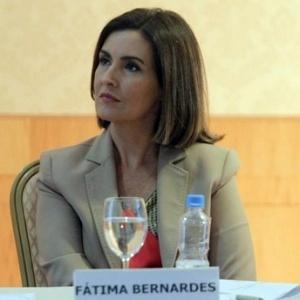 Fátima Bernardes durante coletiva de imprensa de seu novo programa