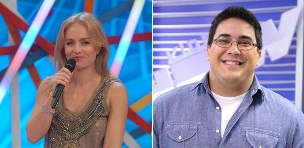Os apresentadores Angélica e André Marques (2011)