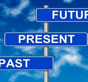 Past Present Future  sign