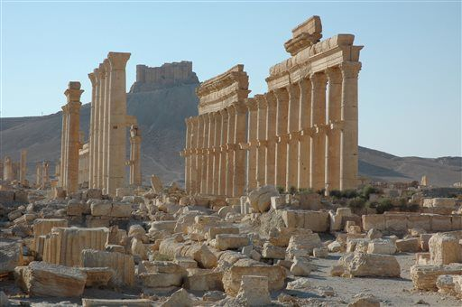 Templul lui Bel in Palmyra Siria distrus in 2015 monument UNESCO