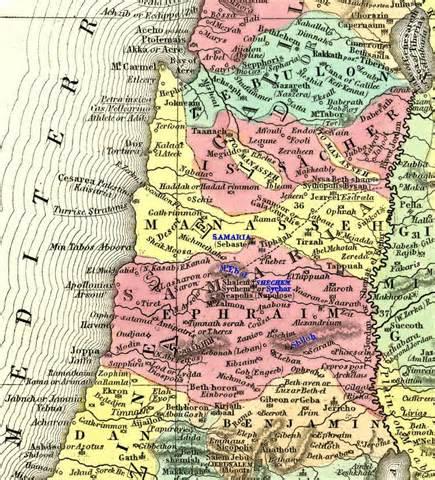 samaria si 12 semintii-triburi