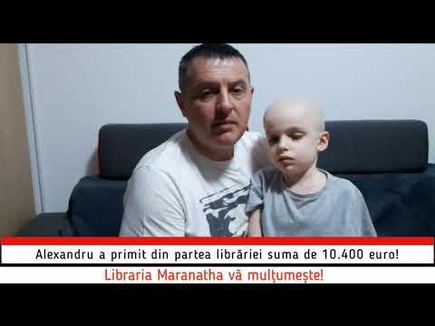 Libraria Maranatha a donat suma de 10.400 euro pentru Alexandru Antal