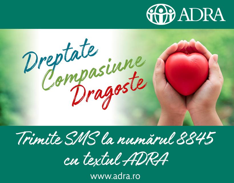 """5.207 de SMS-uri donate pentru ADRA România în cadrul proiectului """"Sprijin pentru fiecare"""" – Mulțumim! Nu am fi reușit fără suportul dumneavoastră!"""