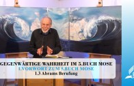 1.3 Abrams Berufung – VORWORT ZUM 5. BUCH MOSE | Pastor Mag. Kurt Piesslinger