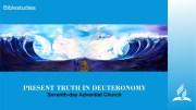 PRESENT TRUTH IN DEUTERONOMY cover