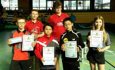 Siegerehrung Jugend bis 1100 Punkte