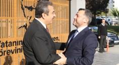 Fatih Mehmet KOCAİSPİR Soner ÇETİN'i makamında ziyaret etti