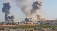 Pazar yerine hava saldırısı: 8 sivil yaralı