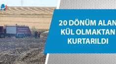 Kozan'da anız yangını