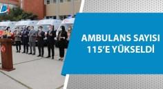Adana'ya gönderilen 26 ambulans törenle hizmete alındı