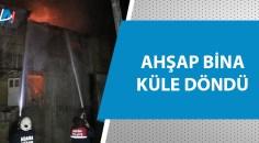 Adana'da metruk binada yangın!