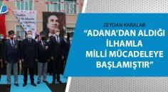 Atatürk'ün Adana'ya gelişinin 98. yıldönümü kutlandı
