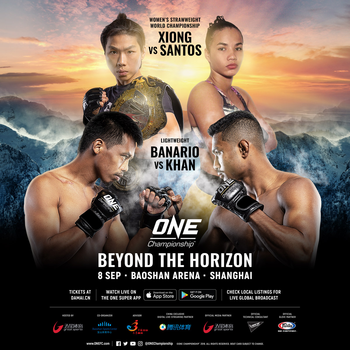 """Complete card announced for """"ONE: Beyond The Horizon"""" in Shanghai"""