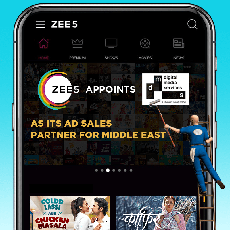 ZEE5 Global appoints DMS as its ad sales partner for the Middle East market