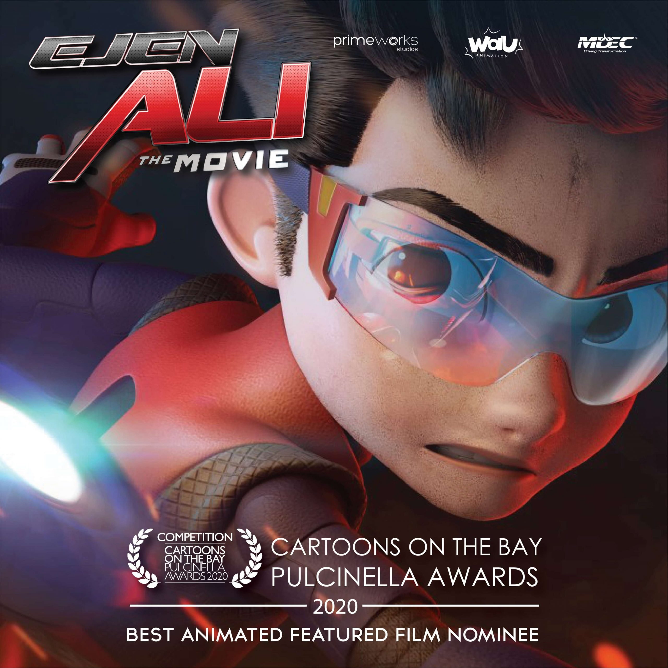 'Ejen Ali The Movie' debuts on Festival Circuit – In competition at Cartoons On The Bay, Italy and official selection at ASEAN Film Week 2020, Vietnam