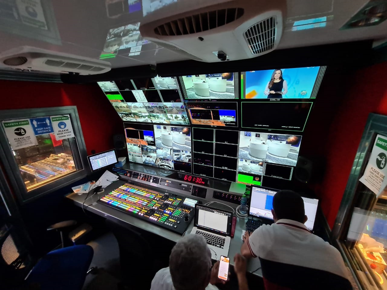 Full complement of FOR-A Equipment in Media Mania OB truck delivers rock-solid live coverage of UAE's first Mars mission