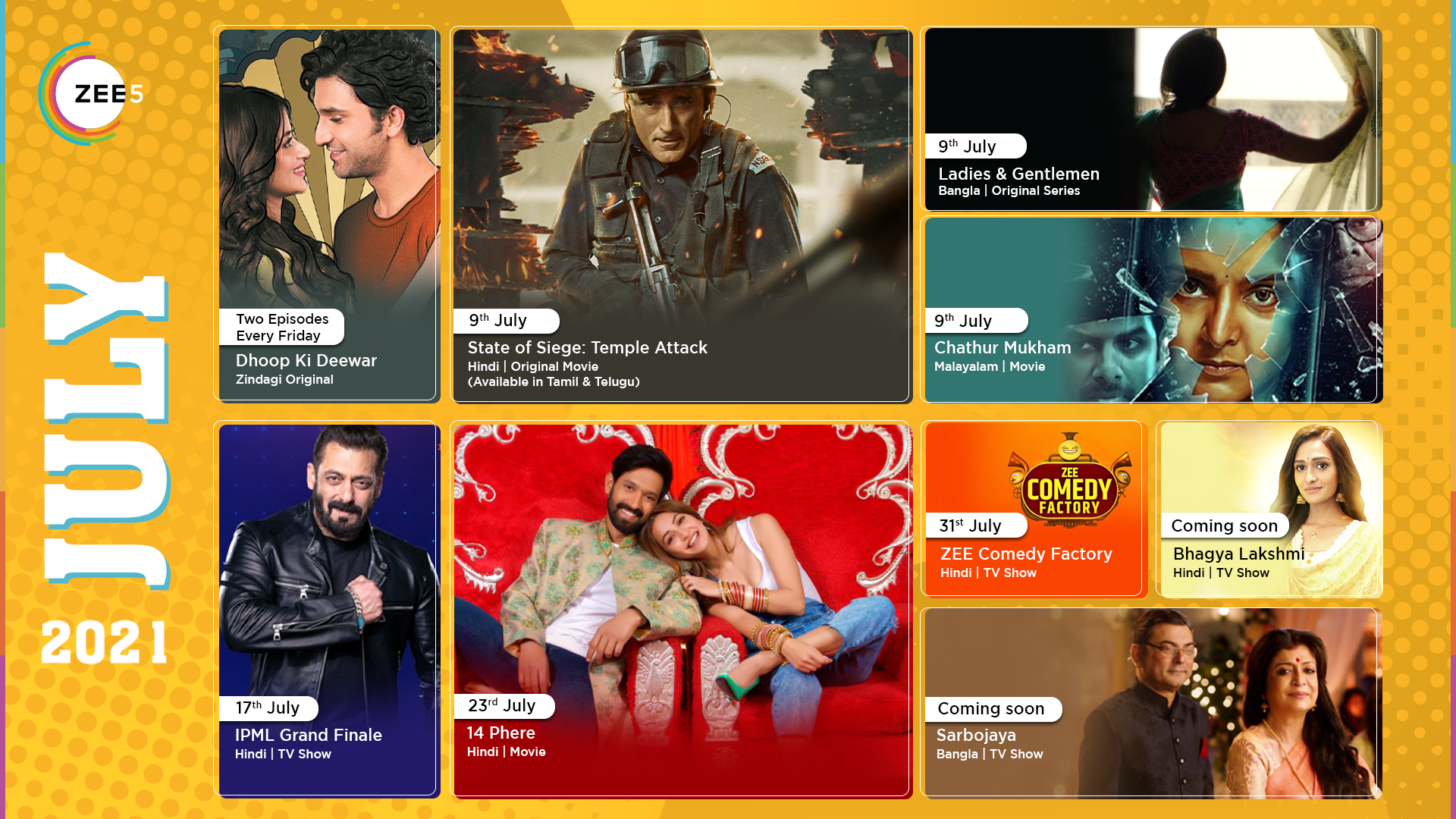 From Originals to TV shows, all that is streaming on ZEE5 Global this July