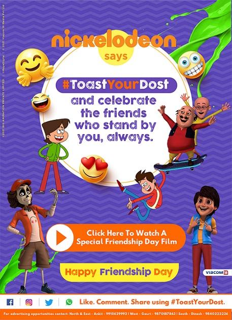 Nickelodeon celebrates Friendship Day with #ToastYourDost