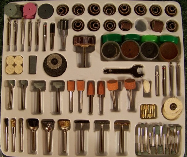 POLISHING and WIRE WHEELS 216pc ROTARY TOOL ACCESSORY KIT