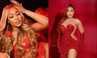 Erica is not done with Valentine as she dishes more HOT photos on Red lingerie (Photos)