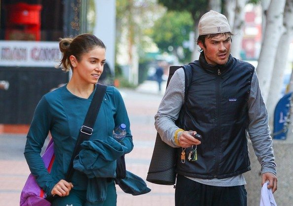 Ian Somerhalder and Nikki Reed YOGA 14