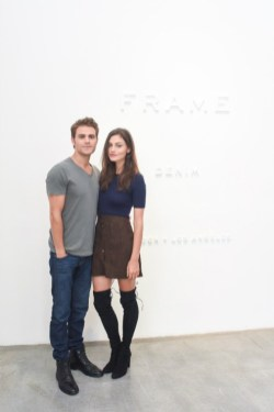 Frame Denim Show at NYFW - Phoebe Tonkin and Paul Wesley 1