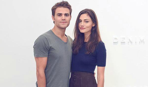 Frame Denim Show at NYFW - Phoebe Tonkin and Paul Wesley 6