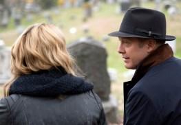 "The Blacklist 3x11 ""Mr. Gregory Devry"" -- Pictured -- Megan Boone as Elizabeth Keen and James Spader as Raymond ""Red"" Reddington"