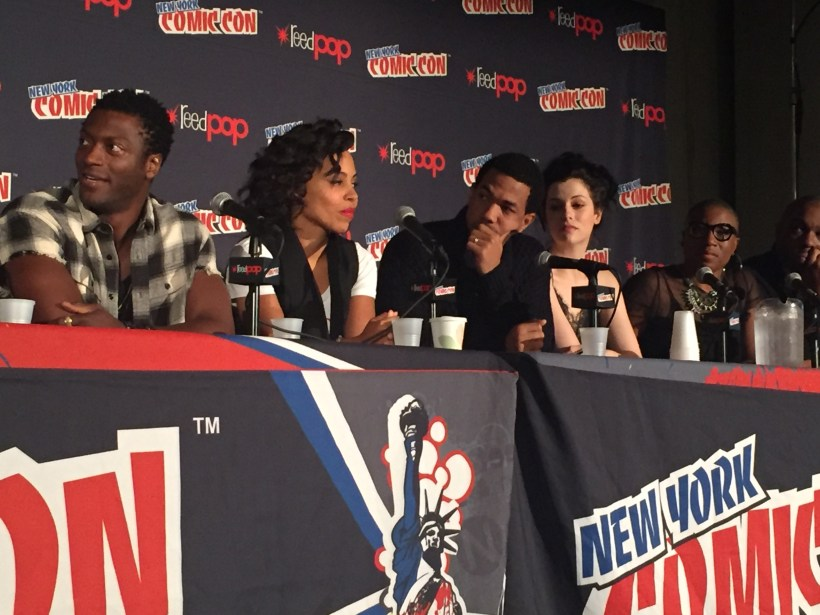 The cast of Underground at NYCC