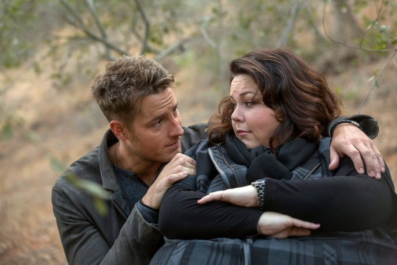 """THIS IS US -- """"The Trip"""" Episode 109 -- Pictured: (l-r) Justin Hartley as Kevin, Chrissy Metz as Kate -- (Photo by: Ron Batzdorff/NBC)"""