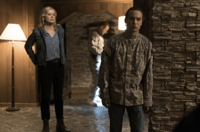 Kim Dickens as Madison Clark and Frank Dillane as Nick Clark in the Fear The Walking Dead Midseason Premiere