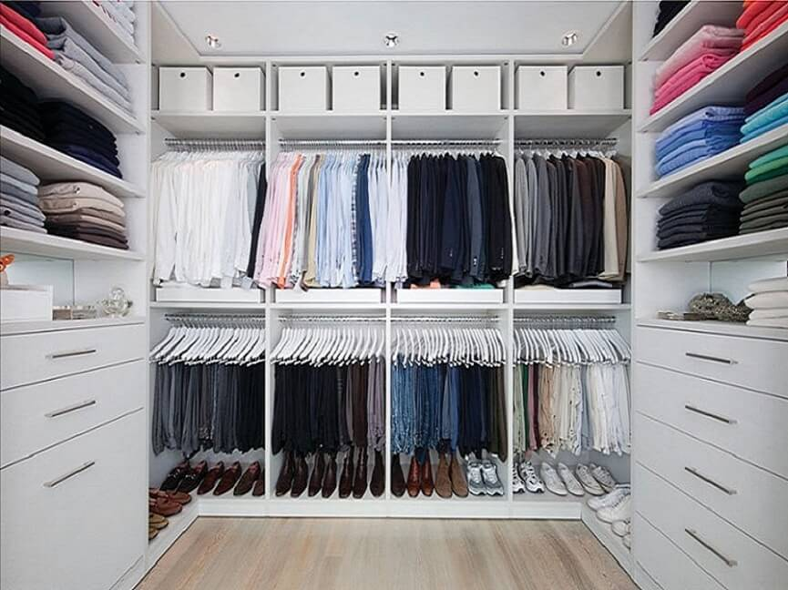Add different colors to your closet