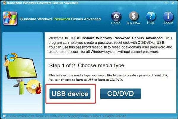 WinPassKey select-USB device