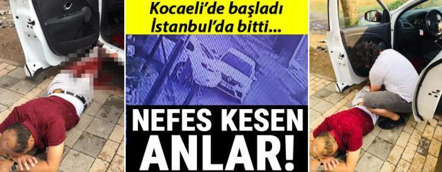 Nefes kesen anlar! Kocaeli'de başladı İstanbul'da sona erdi