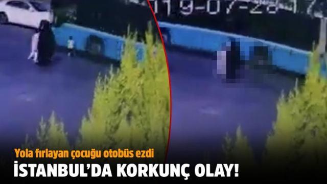 Yola fırlayan çocuğu halk otobüsü ezdi